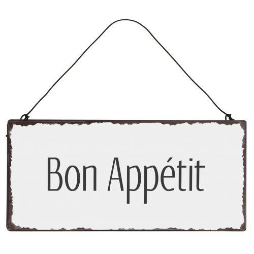 IB LAURSEN / Plechová ceduľa Bon Appétit