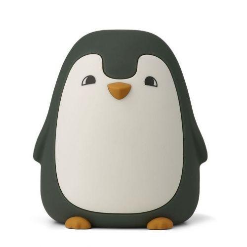 LIEWOOD / Detská nočná lampička Ditlev Penguin Hunter Green