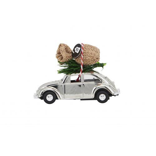 House Doctor / Vianočné autíčko Xmas Car Mini Chrome