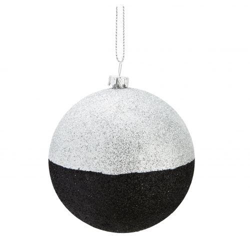 MADAM STOLTZ / Trblietavá vianočná ozdoba Black/Silver