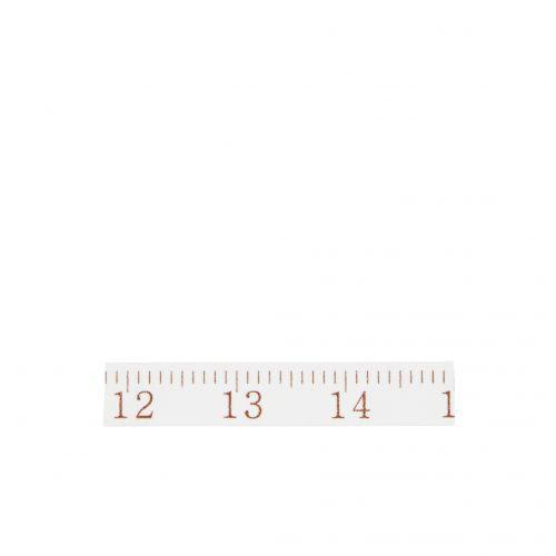 MADAM STOLTZ / Dizajnová samolepiaca páska Ruler white/bronze