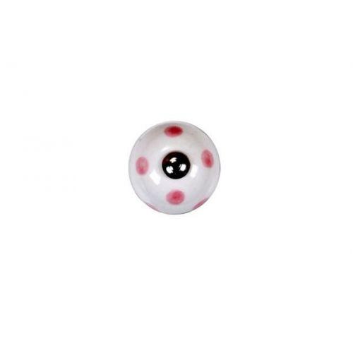La finesse / Porcelánová úchytka Pink dots mini