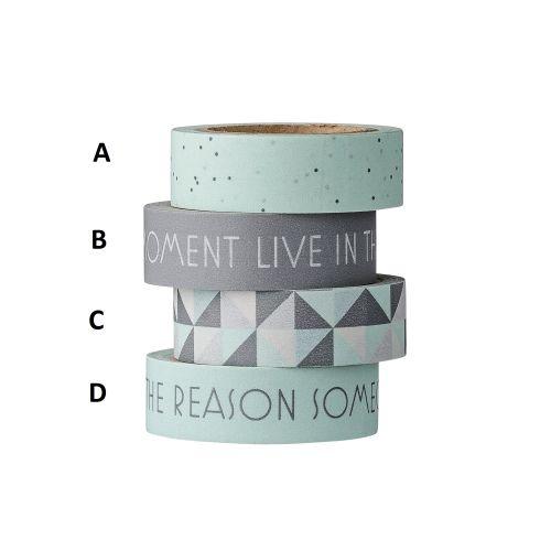 Bloomingville / Dizajnová samoloepiaca páska Winter Mint/Grey