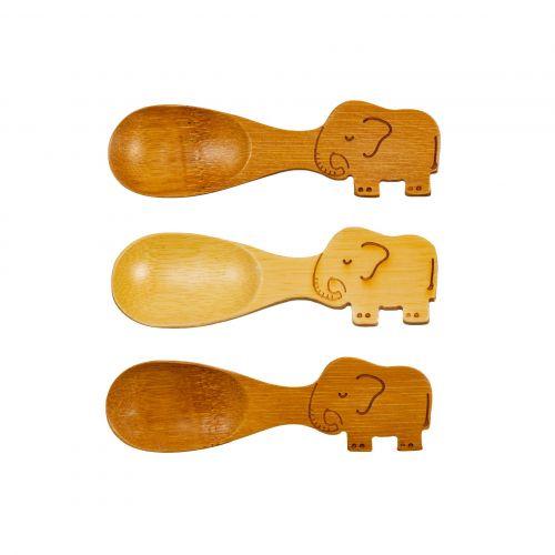sass & belle / Bambusová lyžička Elephant - set 3 ks