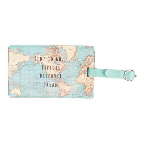 sass & belle / Menovka na batožinu Vintage Map