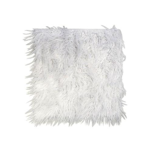 Chic Antique / Sedák z umelej kožušiny White 40x40cm