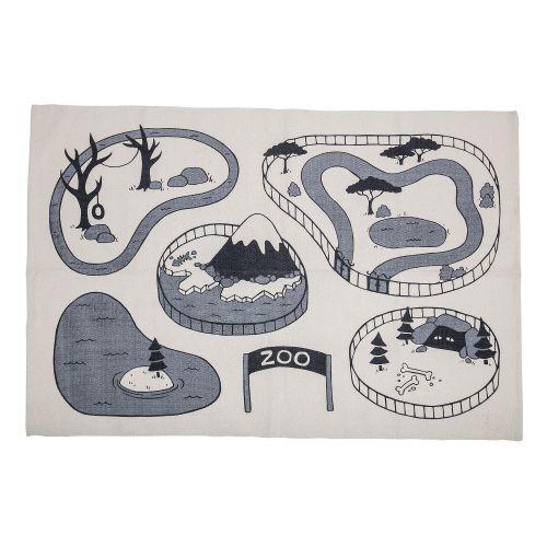 Bloomingville / Koberček Grey Zoo 155x100 cm