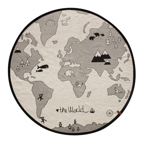 OYOY / Bavlnený koberček The World