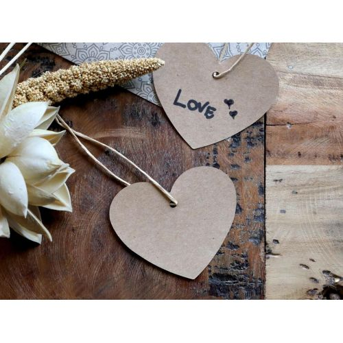 Chic Antique / Papierový štítok Brown Paper Heart 5×7 cm