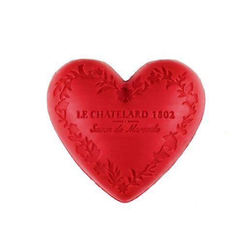 Le Chatelard / Mýdlo Heart - červené ovoce 100gr