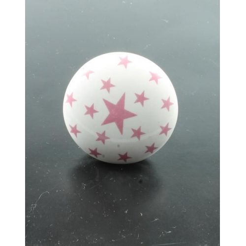 La finesse / Porcelánová úchytka Pink stars