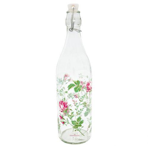 GREEN GATE / Sklenená fľaša s uzáverom Constance White