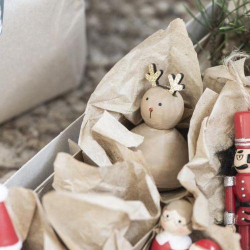 IB LAURSEN / Drevený sobík Glitter Reindeer 7,2 cm