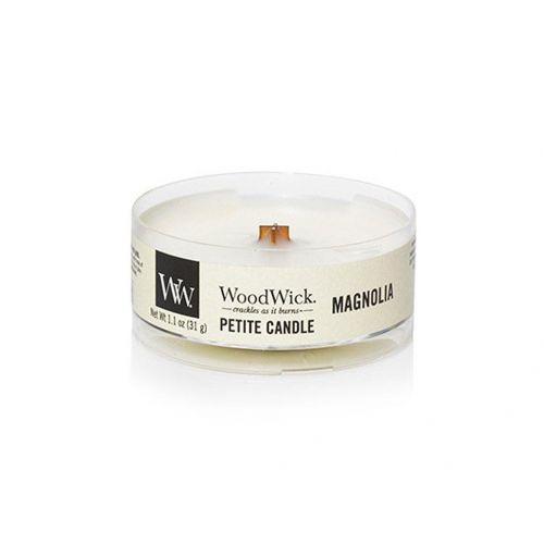 WoodWick / Vonná sviečka WoodWick Petite - Magnolia 31 g