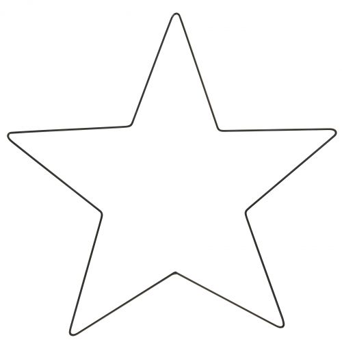 IB LAURSEN / Vianočná dekorácia Black Iron Star Large 45 cm