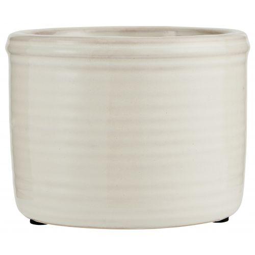 IB LAURSEN / Keramický obal na kvetináč Grooves White Small