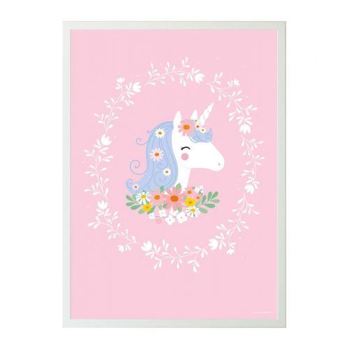 A Little Lovely Company / Detský plagát Lovely Unicorn 50 x 70 cm
