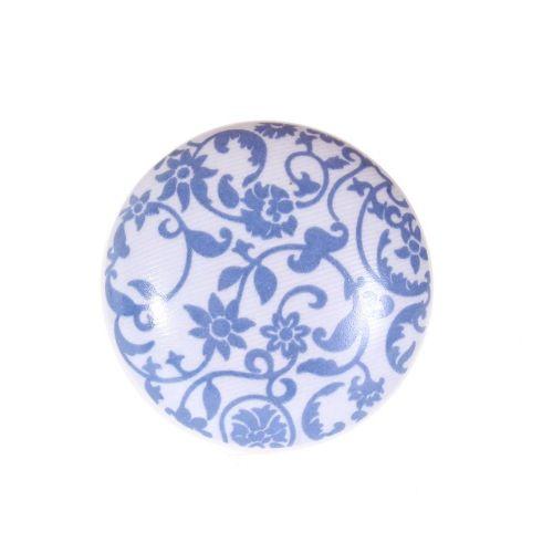 La finesse / Porcelánová úchytka Blue Flowers