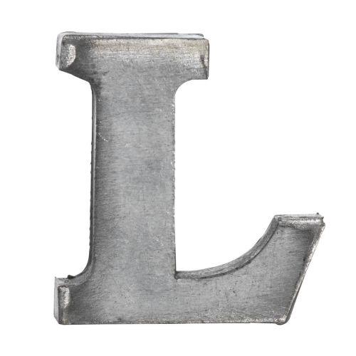 MADAM STOLTZ / Plechové písmeno L, 5,5 cm