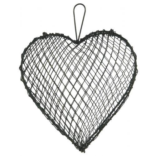 IB LAURSEN / Závesné kovové srdce Grey Wire