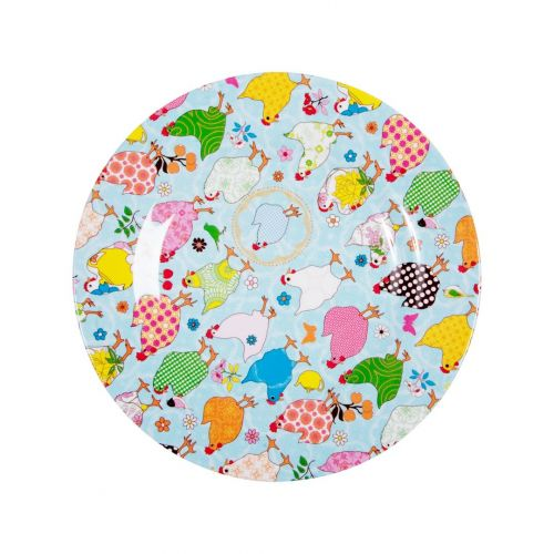 rice / Melamínový tanier - sliepočky