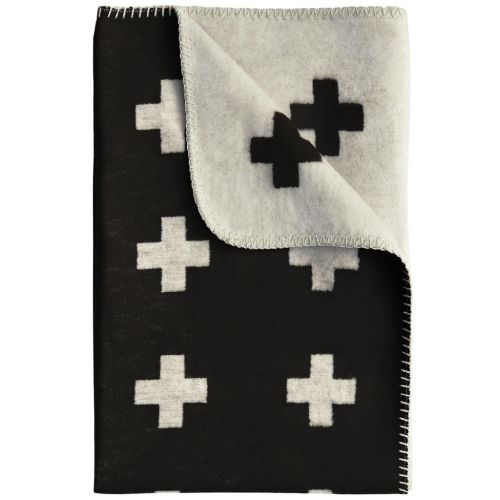 Pia Wallén / Deka Cross Blanket Black 80x125