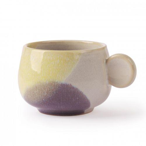 HK living / Keramický hrnček Yellow/Lilac