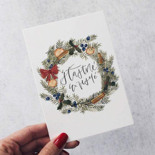 Bella Rose / Pohľadnica Šťastné a veselé