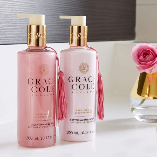Grace Cole / Sada s péčí o ruce Warm Vanilla & Sandalwood - 2x300ml