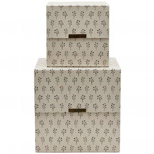 House Doctor / Úložný box Floral Beige
