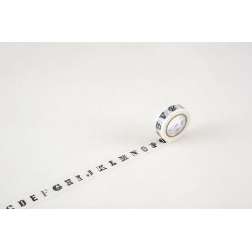 mt / Designová samolepiaca páska Alphabet black R