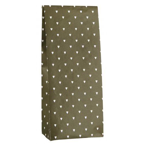 IB LAURSEN / Papierové vrecko Olive and Hearts 30,5cm