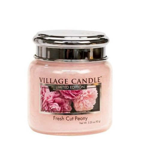 VILLAGE CANDLE / Sviečka Village Candle - Fresh Cut Peony 92gr