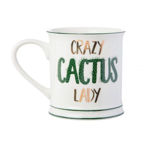 sass & belle / Porcelánový hrnček Crazy Cactus Lady