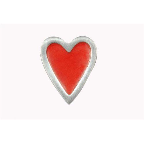 La finesse / Kovová úchytka Heart red