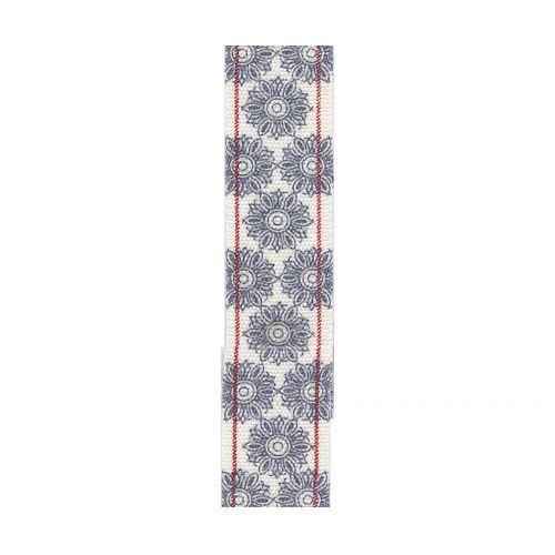 Maileg / Bavlněná stuha Flower grey/blue