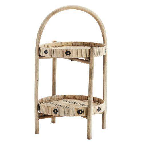 MADAM STOLTZ / Odkladací stolík Natural Bamboo