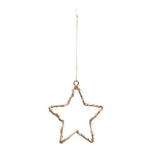 House Doctor / Vianočná ozdoba Star Gold