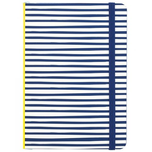 Busy B / Pruhovaný zápisník Yellow & Blue Stripes A6