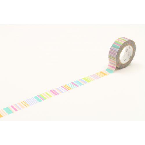 mt / Dizajnová samolepiaca páska Multi border pastel