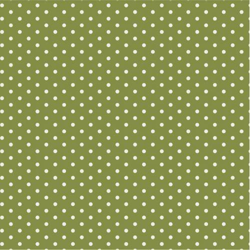 IB LAURSEN / Papierové obrúsky Herbal Green Dots - 20 ks