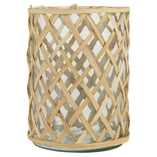 IB LAURSEN / Sklenený svietnik Bamboo Braid