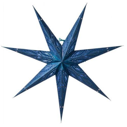 watt & VEKE / Závesná svietiaca hviezda Ebba Blue 80 cm