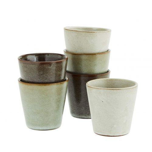 MADAM STOLTZ / Keramická šálka Grey Stoneware