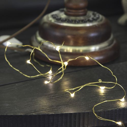 STAR TRADING / Svietiaci LED drôtik Brass String 1,1 m