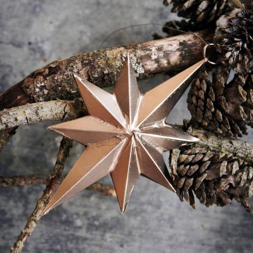 House Doctor / Závesná vianočná dekorácia Star Bethlehem Antique Silver