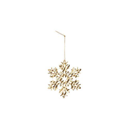 House Doctor / Vianočná ozdoba Gold Snowflake