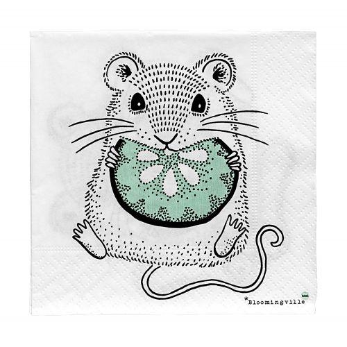 Bloomingville / Papierové servítky Mouse
