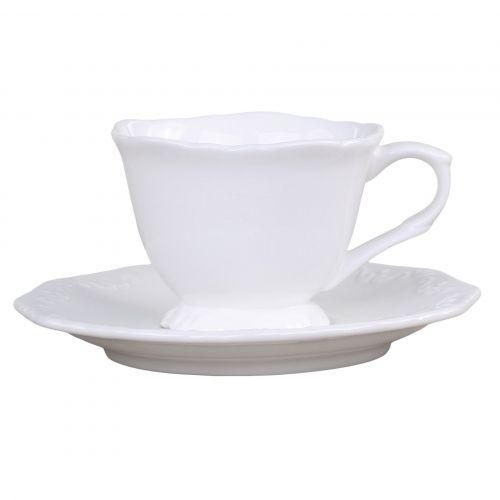 Chic Antique / Porcelánová šálka s podšálkou Espresso Provence