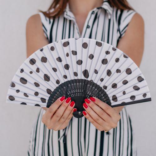 Bella Rose / Trendy látkový vejár Dalmatin